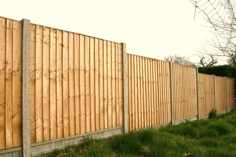 Concrete Post And Panel Fence Fencing