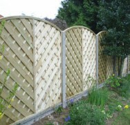 Concrete Posts & Gravel Boards with Euro panel