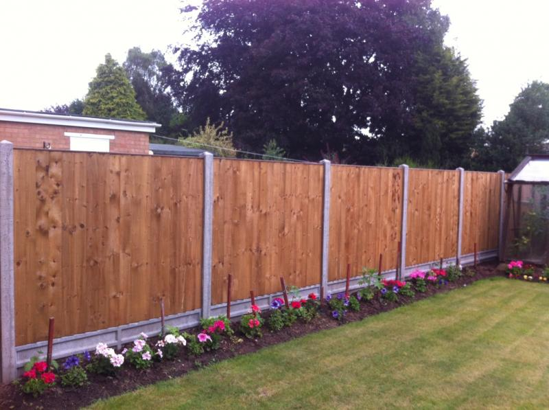 Concrete posts & Featheredge panels Stivichall